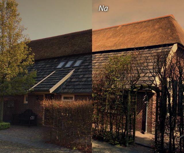 boerderij rieten dak schoonmaak renovatie